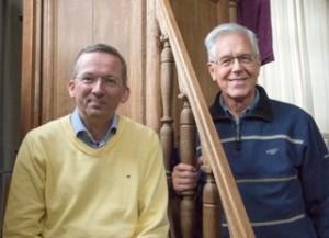 Eric Janse de Jonge en Frits Kool, leden restauratiecie PGE, november 2013 (4)