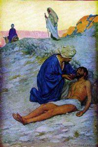 Barmhartige Samaritaan - Margetson
